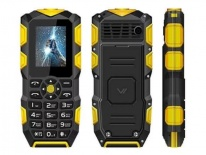 Сот. тел. Vertex K203 Black/Yellow защищенный IP68
